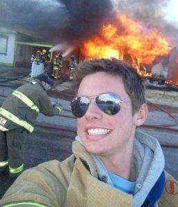 firefighter selfie fail