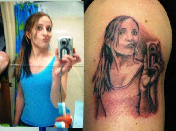 lustig Selfie Fail tattoo