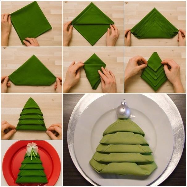 Serviette Falten Weihnachten - Wohndesign