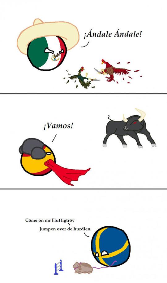 Länder und Tiere
