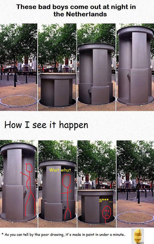 Öffentliche Toiletten in der Niederlande